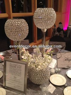 Wedding centerpieces creative candle holders new ideas Crystal Centerpieces, Candle Wedding Centerpieces, Candle Holders Wedding, Glass Candle Holders, Wedding Decorations, Flower Centerpieces, T Lights, Wedding Table, Wedding Ideas