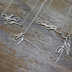 Personalized signature necklaces by Brevity