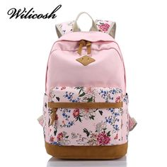 XQXA Canvas Floral Printing Satchel Rucksack Backpacks School Bags for Girls Female Mochila Escolar Printing Backpack School Stylish Backpacks, Cute Backpacks, Girl Backpacks, School Backpacks, Canvas Backpacks, Cheap Backpacks, Leather Backpacks, Backpack Travel Bag, Backpack For Teens