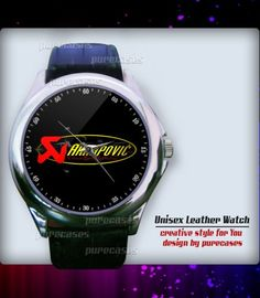Unisex Watch AKRAPOVIC SYSTEM LOGO With Leather Watchband | purecases - Jewelry on ArtFire