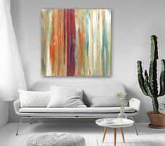 Original large abstract painting acrylic on canvas