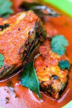 Malvani Fish Curry - Recipe adapted from Chaitanya Authentic Malvani Cuisine Restaurant, Mumbai