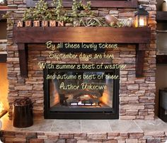 I like stacked stone fireplaces. DIY Project Parade and DIY highlights