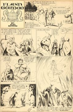 Alex Raymond Flash Gordon Sunday Comic Strip Original Art dated | Lot #92154 | Heritage Auctions