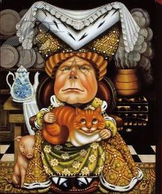 *QUEEN OF HEARTS & THE CHESHIRE CAT
