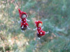 Nadel gefilzt Weihnachten Märchen Pilz Ornament von Made4uByMagic