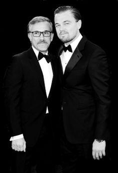 Christoph Waltz and Leonardo DiCaprio