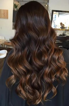 Long Wavy Ash-Brown Balayage - 20 Light Brown Hair Color Ideas for Your New Look - The Trending Hairstyle Brown Hair Shades, Light Brown Hair, Mocha Brown Hair, Black Brown Ombre Hair, Balyage On Black Hair, Brown Hair For Fall, Brown Hair Tips, Coffee Brown Hair, Dark Ombre Hair