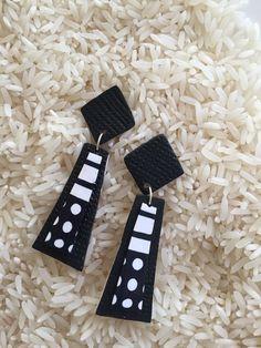 Black and White Pop-Art Earrings