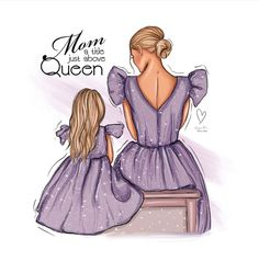 mom queen above title daughter drawings mother drawing painting girly ksenia