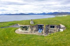 Two award-winning 5 star graded cottages hidden on a Hebridean Isle, with luxury interiors, and stunning views Cabana, Earth Sheltered Homes, Isle Of Harris, New Year Pictures, Underground Homes, Earth Homes, Green Architecture, Natural Swimming Pools, Natural Pools