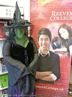 Reeves College Lloydminster Campus Students, Staff and Faculty in Halloween Costumes - Jaye as Witch Subscribe to Reeves College: http://www.youtube.com/subscription_center?add_user=ReevesCollege #ReevesCollege #Lloydminster #Campus #Students #Staff #Faculty #Halloween #Costumes