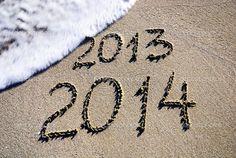 carte de voeux 2014 sur la plage....
