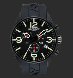 Swiss quartz chronograph movement Screw down stainless steel back Solid high grade stainless steel case Mineral crystal PU strap Water Resistant for 10 ATM (300 feet). Non radioactive long lasting luminescence dial