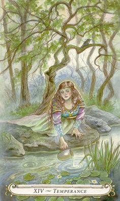 XIV - Tempérance - Le conte de fées de Tarot par Lisa Hunt