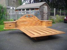 Amazing Furniture by Rob Elliot Furniture Oak Bedroom Furniture, Custom Furniture, Cool Furniture, Furniture Stores, Vintage Furniture, Smart Home Ideas, Smart Home Design, Timber Beds, Wood Beds