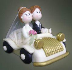 Centro de torta de boda