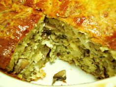 This domain may be for sale! Food Network Recipes, Cooking Recipes, The Kitchen Food Network, Mushroom Pie, Greek Cooking, Greek Recipes, Different Recipes, Meatloaf, Quiche
