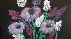 Parmak boyası Four Square, Dandelion, Flowers, Plants, Painting, Art, Dandelions, Painting Art, Flora