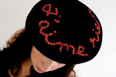 the J'aime rien beret by parisnarcissus on Etsy - StyleSays