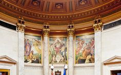 Title  Murals In The Capitol - Madison   Artist  Steven Ralser   Medium  Photograph - Photography