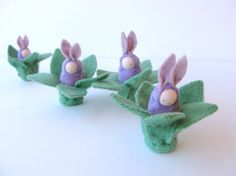 Easter bunny waldorf decor rabbit lavender bunnies