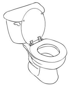 how to draw a toilet step 6