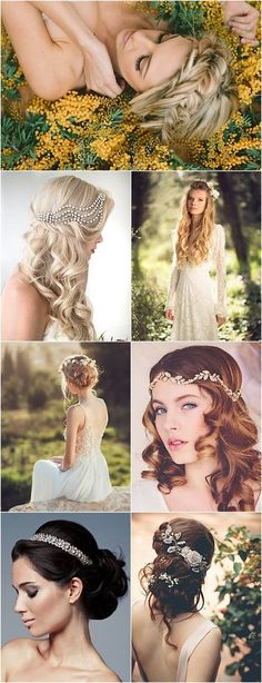 Wedding Hairstyles for a Romantic-Glam Look / http://www.himisspuff.com/bridal-wedding-hairstyles-for-long-hair/20/