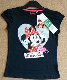 Girls Disney Summer Brand New T-Shirt Minnie Mouse 100% Cotton Various Sizes #paulscorner #ebay #summer #tshirt #minniemouse