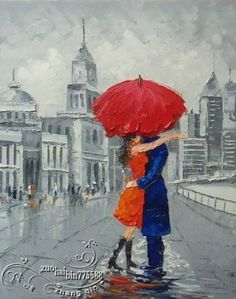 "YH0211 NO Frame/ Pure Hand-painted Canvas Oil Painting ""Love Kiss """