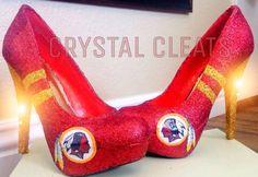 NFL WASHINGTON REDSKINS Football high heel stiletto shoes Custom Made All Teams N Sizes