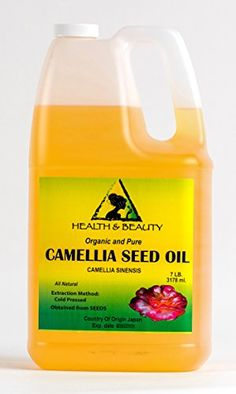 Camellia  Camelia Seed Organic Carrier Oil Cold Pressed 100 Pure 128 oz 7 LB 1 gal >>> Continue to the product at the image link. Note:It is Affiliate Link to Amazon.
