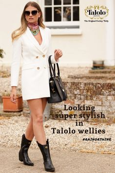 Talolo Boots: Seriously cool funky festival Wellies for Women! The original Cowboy style Welly boot that looks great wherever you wear them ! Take a look Funky Wellies, Festival Wellies, Welly Boots, Waterproof Winter Boots, Wellington Boot, Look Chic, Dog Walking, Looks Great, Comfy
