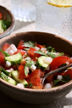 Cucumber and Tomato Salad With Cilantro and Mint Recipe - NYT Cooking