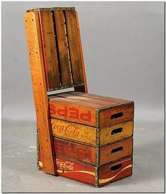 fruit crates recycled chair