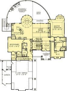 Ashburton luxury home blueprints mansion floor plans house plan 15627ge sweeping rear deck with great views malvernweather Choice Image