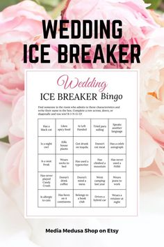 Bridal Shower Ice Breaker Game Blush Wedding Human Bingo Cards image 3 Bingo Cards, Printable Cards, Party Printables, Ice Breaker Bingo, Human Bingo, Wedding Party Games, Ice Breakers, Getting To Know You, Etsy Store