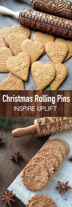 Christmas Rolling Pin - ★★★★★ Finally, an easy way to prepare the most beautiful and original Christmas cookies in just minutes! This unique, Christmas Rolling Pin would make a perfect Christmas gift for your wife, mother, friends (women or men) Christmas Gift For You, Perfect Christmas Gifts, Christmas Goodies, Christmas Desserts, Christmas Treats, Holiday Treats, Holiday Recipes, Christmas Time, All Things Christmas