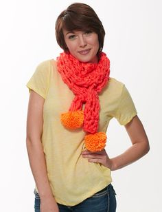 Neon Finger Crochet ScarfNeon Finger Crochet Scarf