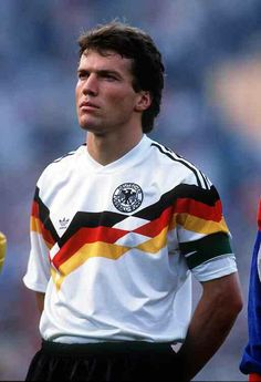 West Germany captain Lothar Matthaus at the 1988 European Championship.