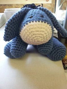 Eeyore Crocheted Stuffed Animal!! Pattern coming soon! So cute and simple :)