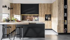 Simple and inexpensive kitchen models - Kitchens are spaces that may often be forgotten when we carry out changes in […] Stairs In Kitchen, Loft Kitchen, Kitchen Benches, Modern Kitchen Cabinets, Kitchen Cabinet Design, Modern Kitchen Design, Kitchen Furniture, Kitchen Interior, Kitchen Dining