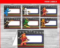 Lego Ninjago Thank you Tags Instant download di partyirenelatimore