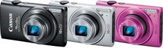 The PowerShot ELPH 330 HS Digital Camera, available in black, silver and pink, offers a 12.1MP High-Sensitivity CMOS sensor and the DIGIC-5 Image processor for sharp, color-accurate photography and Full HD 1080p video capture.