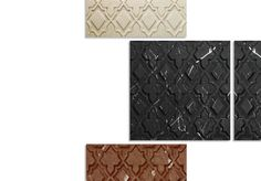 """Alahambra"" marble tile by Kreoo. Available in three fashions: Bas Relief, three-dimensional Graffiti and marble inlay. http://www.kreoo.com/marble-wall-coverings-interior-exterior-alahambra/  #Kreoo #Marble #Tile"