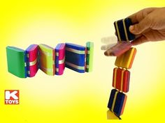 Jacobs Ladder Neato Colorful 6 Wooden Blocks by ToySmith - Unboxing Demo Review - YouTube