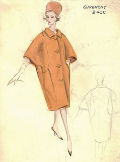 Givenchy Coat by FIT Library Department of Special Collections, via Flickr
