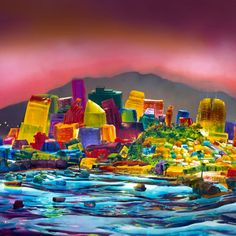 Jello San Francisco by Liz Hickok viaeyecandey #San_Francisco #Jello #Liz_Hickok >> WOW! Jello never looked so pretty!