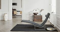 PK24 - PK24, Lounge chair, wicker, leather headrest - Fritz Hansen