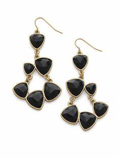 Black and gold...#cookielee Organic Shape earrings #cookielee #jewelry www.cookielee.biz/carriemiller